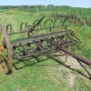 Antique IHC 8ft Field Cultivator on Steel